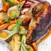 Pollo a la mandarina